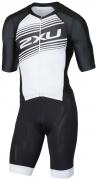 2XU Compression Full Zip Sleeved Trisuit Herren Schwarz/Weiss