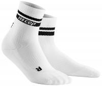 CEP Run 80´s Mid Cut Socks Herren Weiss/Schwarz