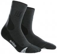 CEP Outdoor Merino Mid Cut Socks Herren Grau/Schwarz