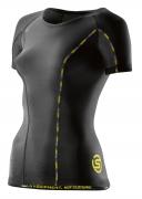 Skins DNAmic Compression Short Sleeve Top Damen Black