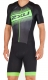 2XU Compression Full Zip Sleeved Trisuit Herren Schwarz/Grün